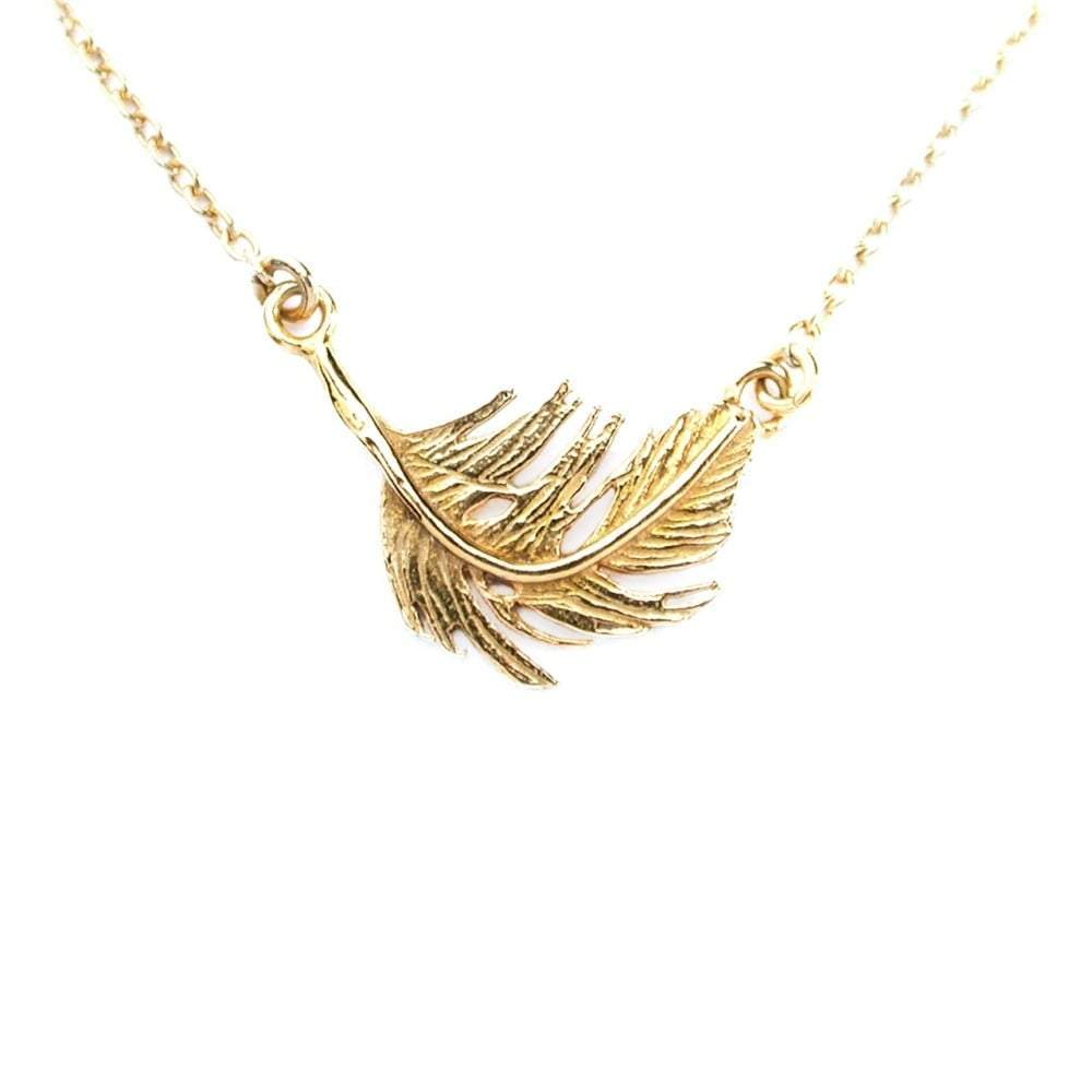 Alex Monroe Necklace Alex Monroe gold feather necklace
