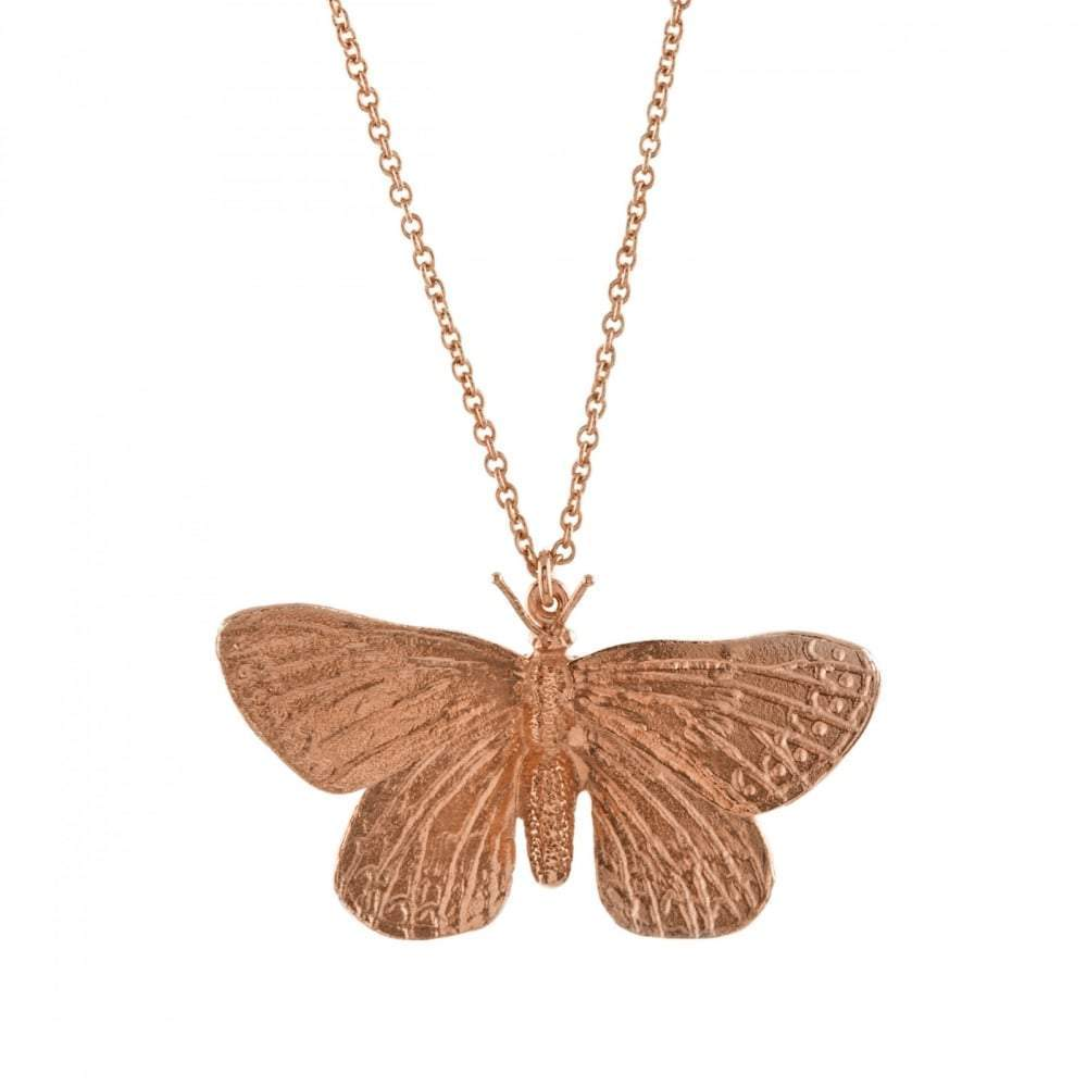 Alex Monroe Pendant Alex Monroe rose gold duke of burgandy butterfly pendant