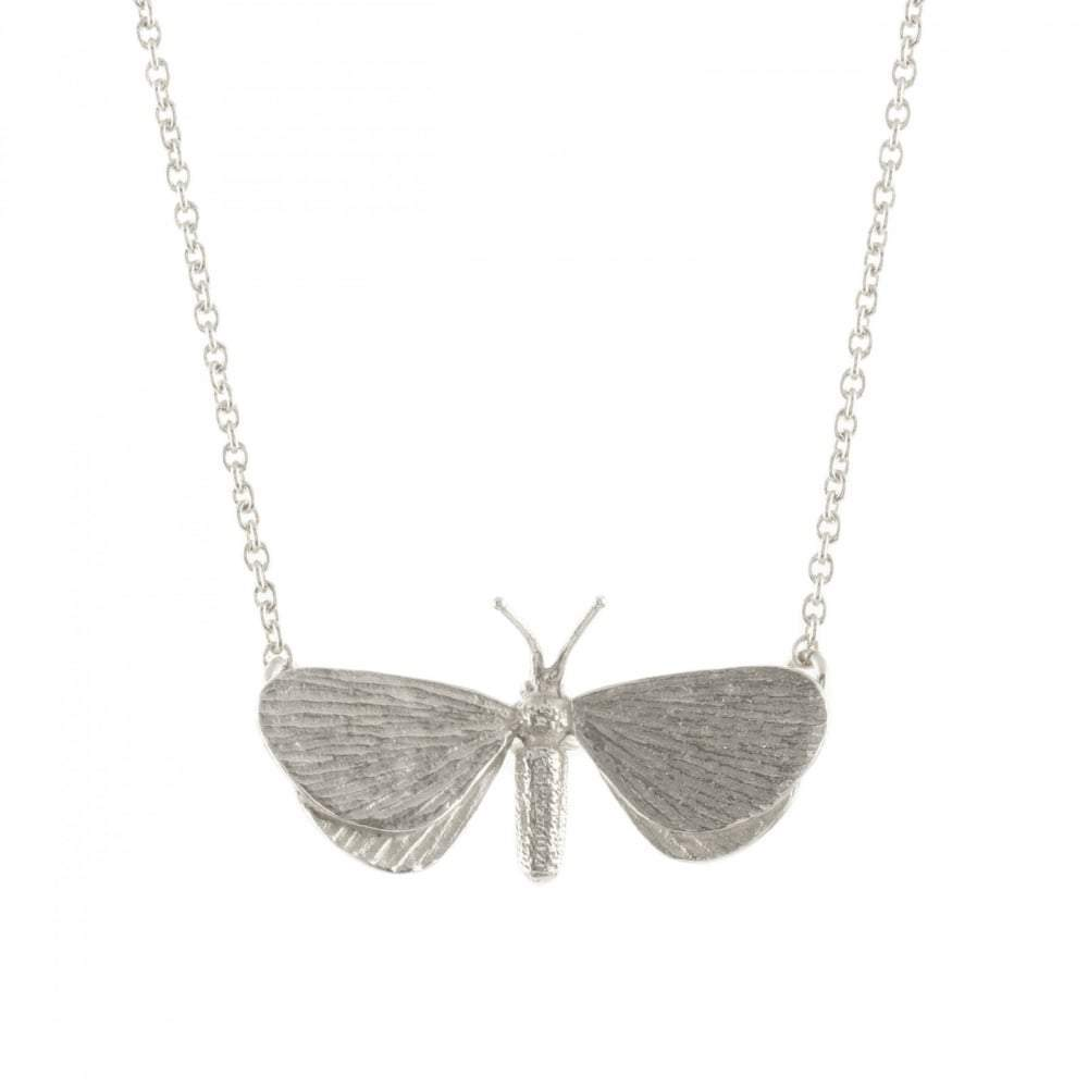 Alex Monroe Necklace Alex Monroe silver drab looper moth necklace