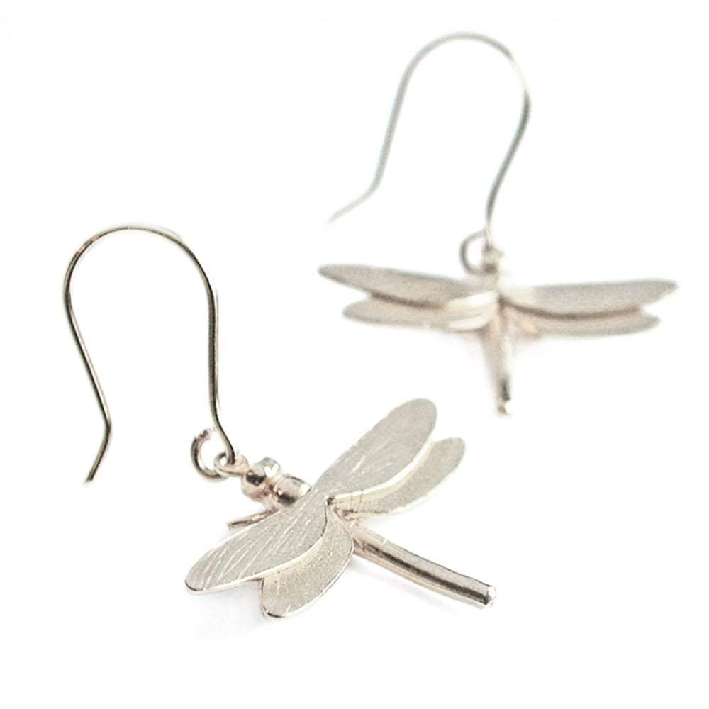 Alex Monroe Earrings Alex Monroe Silver large dragonfly hook earrings