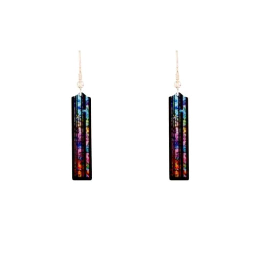 Aluminium Designs Earrings Aluminium Designs multi coloured central park hook earrings
