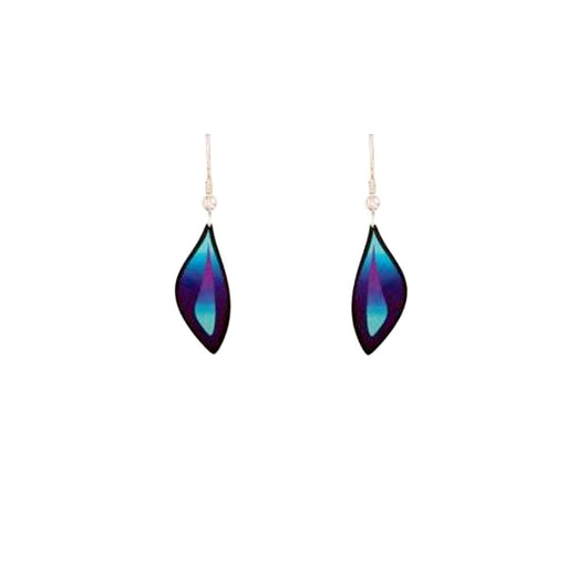 Aluminium Designs Earrings Aluminium Designs purple ocean small hook earrings