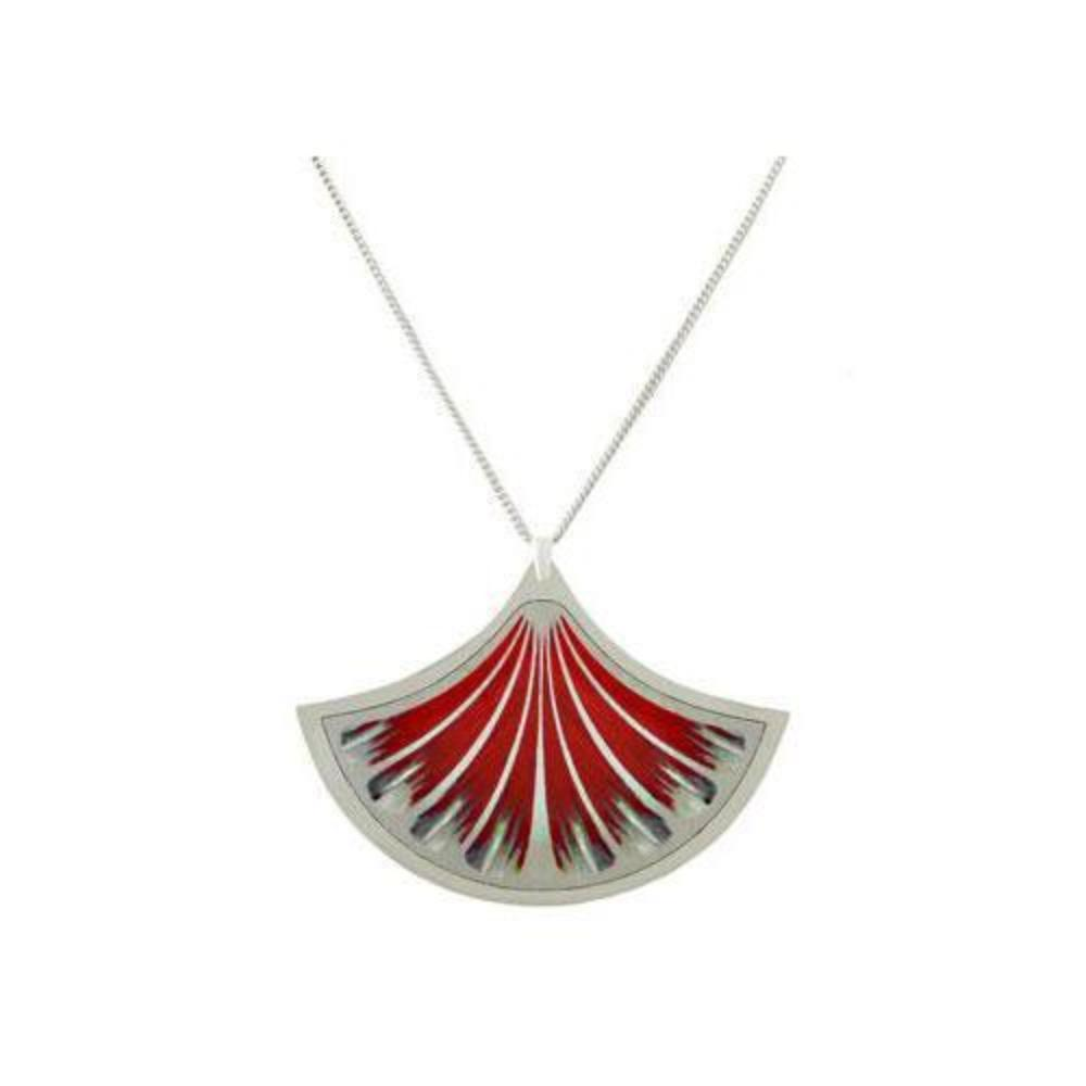 Aluminium Designs Pendant Aluminium Designs red feather pendant