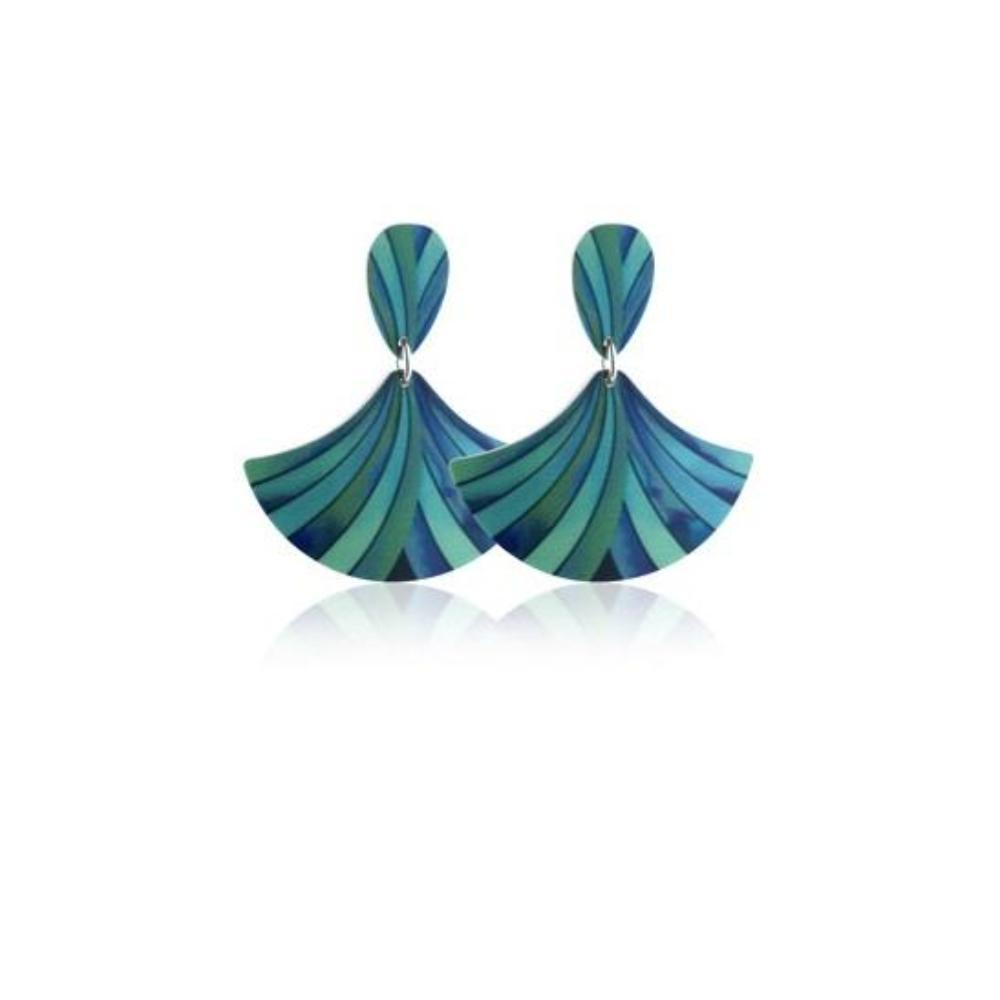 Earrings Aluminium Designs turquoise ribbon drop earrings