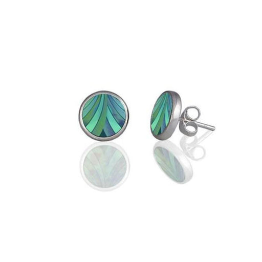Earrings Aluminium Designs turquoise ribbon stud earrings
