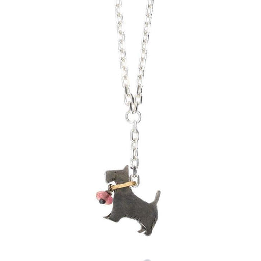 Amanda Coleman Necklace Amanda Coleman black gold tourmaline scottie dog on lead necklace