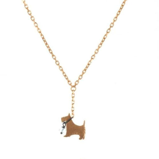 Amanda Coleman Necklace Amanda Coleman gold black moonstone scottie dog necklace
