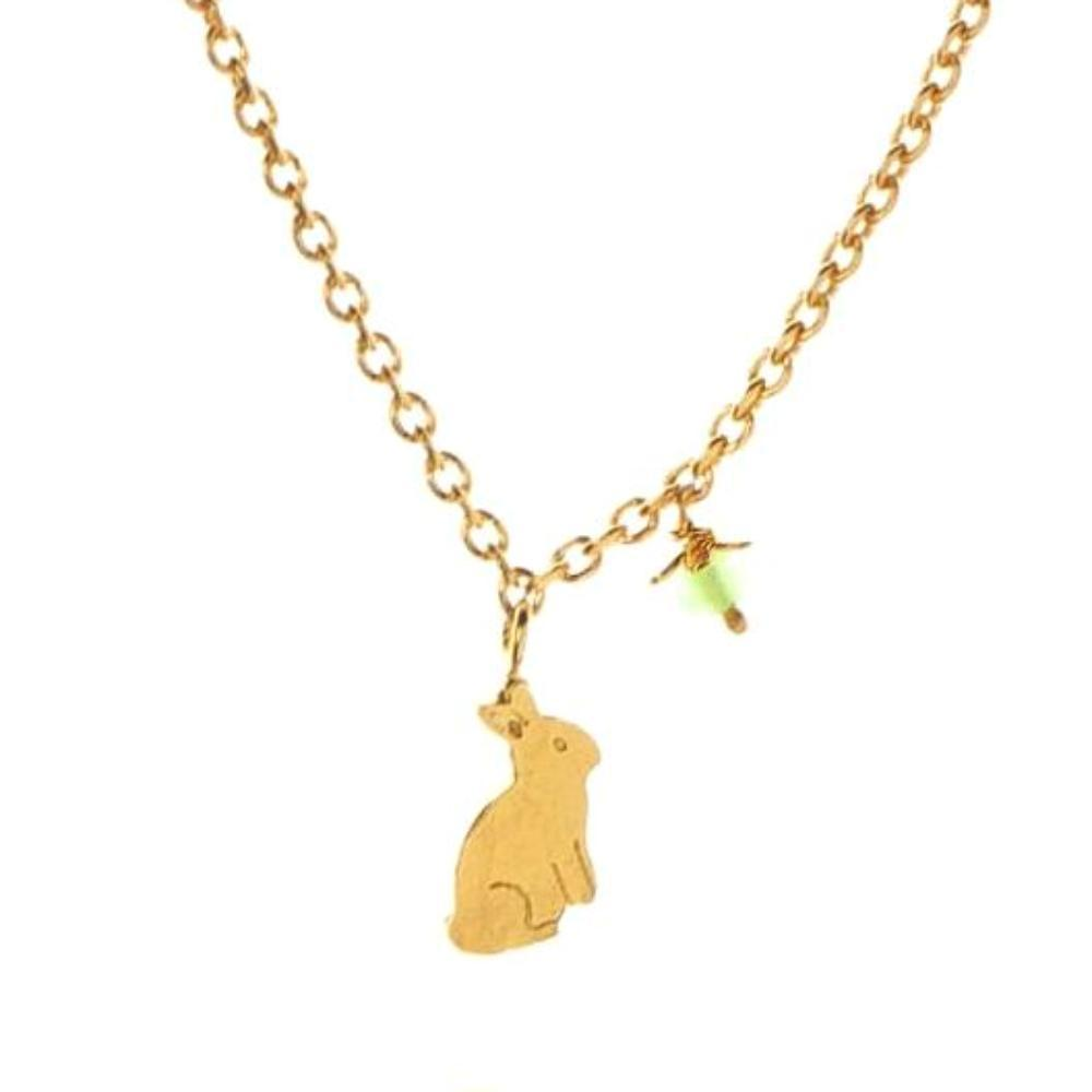 Amanda Coleman Necklace Amanda Coleman gold bunny flower necklace