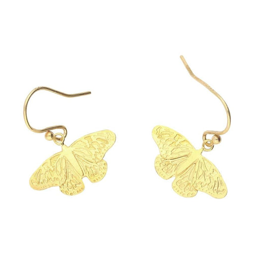 Amanda Coleman Earrings Amanda Coleman gold butterfly hooks