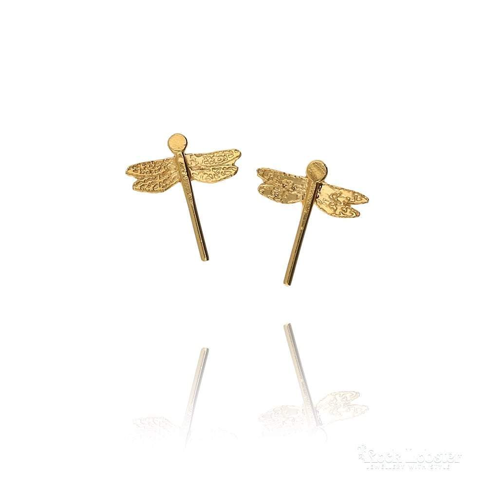 Amanda Coleman Earrings Amanda Coleman gold dragonfly stud earrings
