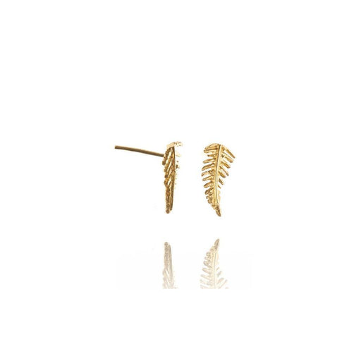 Amanda Coleman Earrings Amanda Coleman gold fern stud earrings