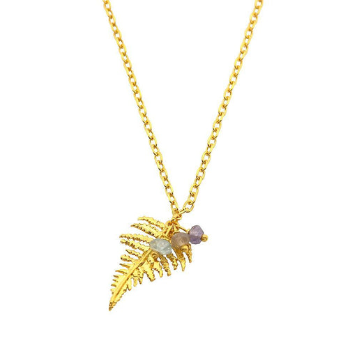 Amanda Coleman Necklace Amanda Coleman gold plated Silver fern appatite mix pendant