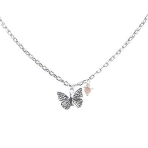 Amanda Coleman Necklace Amanda Coleman Silver butterfly coral flower necklace