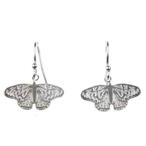 Amanda Coleman Earrings Amanda Coleman Silver butterfly hook earrings