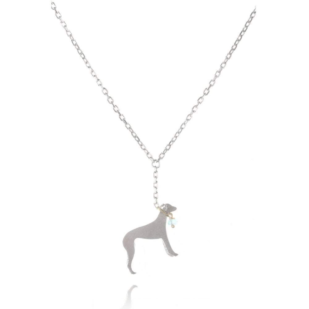 Amanda Coleman Necklace Amanda Coleman Silver gold moonstone whippet necklace