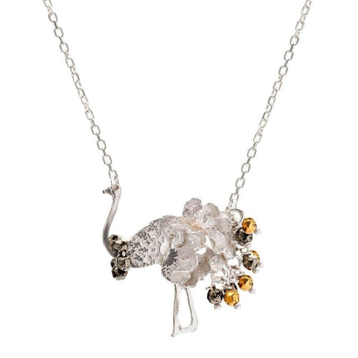 Amanda Coleman Necklace Amanda Coleman Silver gold pyrite betty ostrich necklace