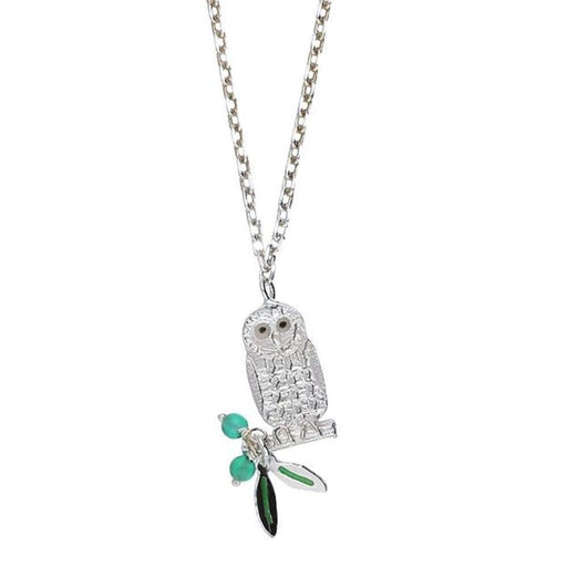 Amanda Coleman Necklace Amanda Coleman Silver green onyx owl necklace