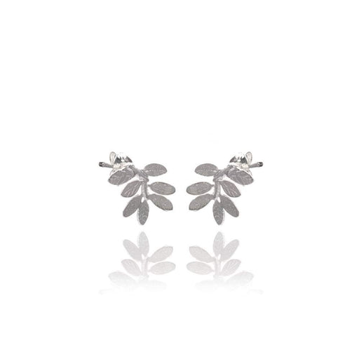Amanda Coleman Earrings Amanda Coleman Silver leaf stud earrings