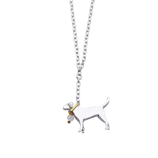 Amanda Coleman Necklace Amanda Coleman Silver moonstone staffie labrador necklace