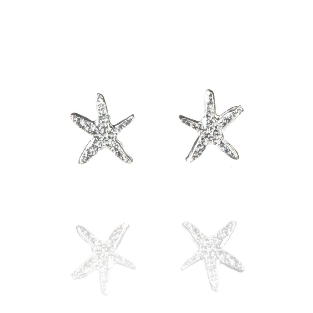 Amanda Coleman Earrings Amanda Coleman Silver starfish stud earrings