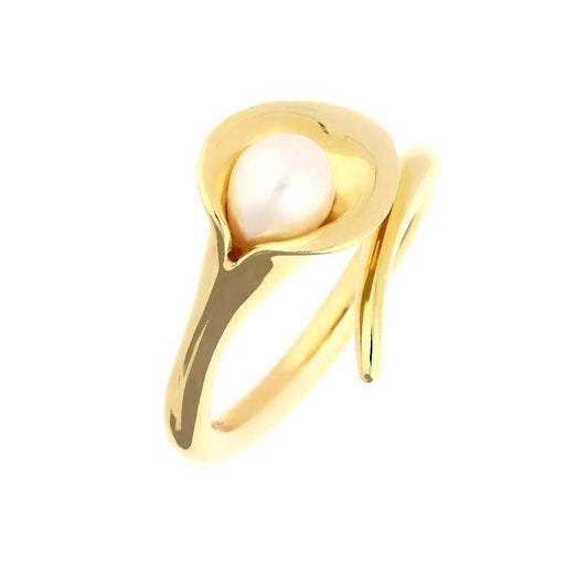 Amanda Cox Ring Amanda Cox 9ct yellow gold white pearl medium lily ring