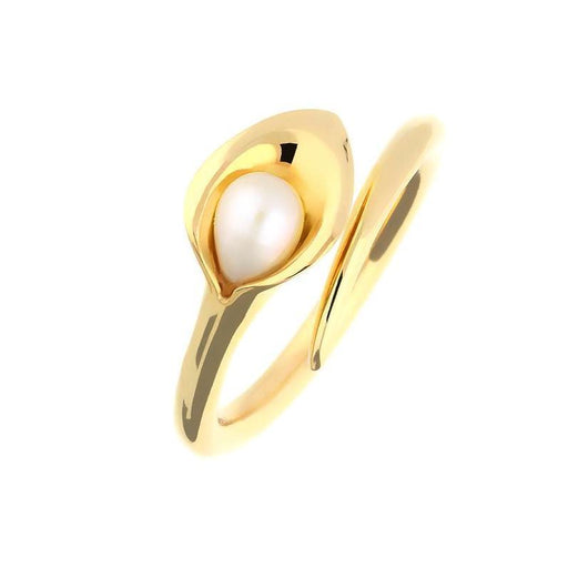 Amanda Cox Ring Amanda Cox 9ct yellow gold white pearl small lily ring