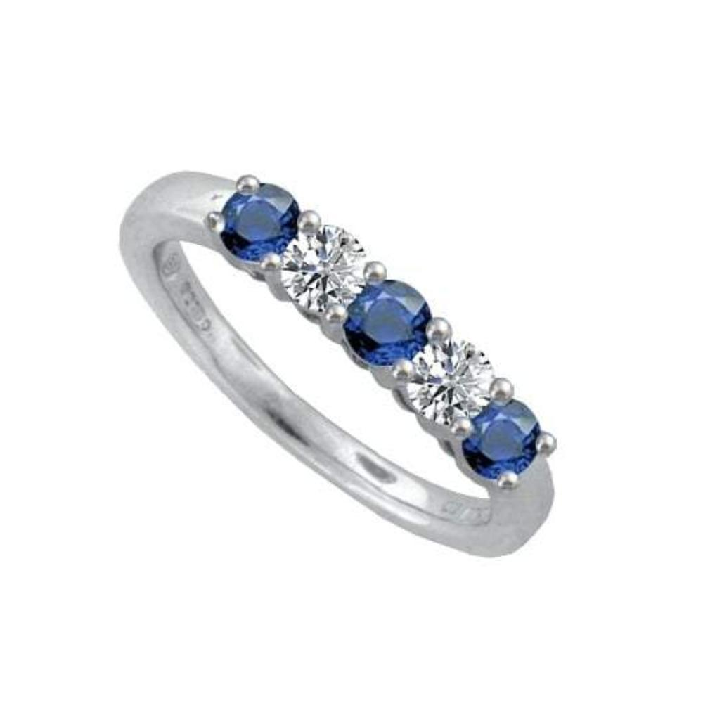 Amore Ring Amore 9ct white Gold Diamond & Sapphire ring