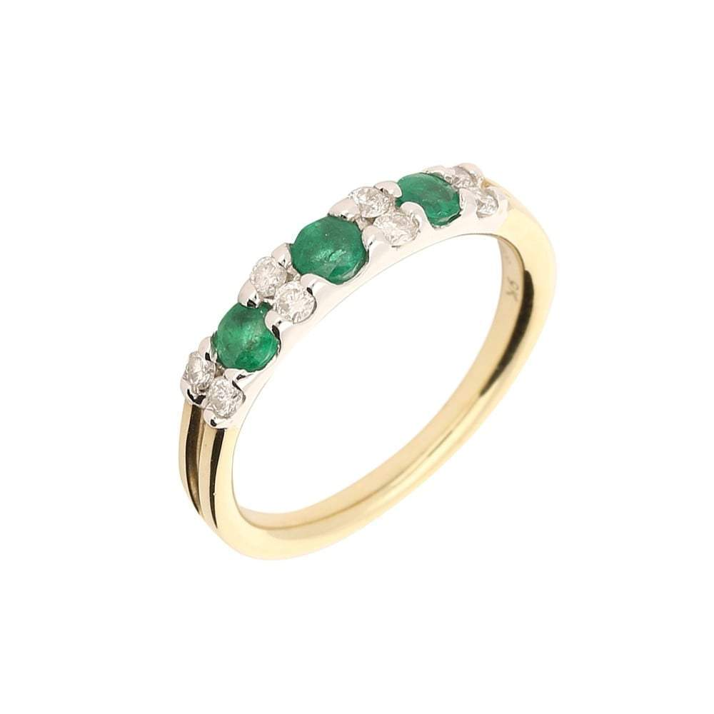 Amore Ring Amore gold emerald and diamond ring