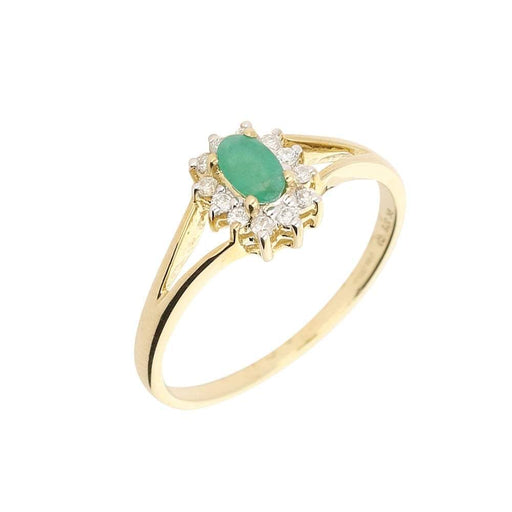 Amore Ring Amore gold emerald diamond oval cluster ring