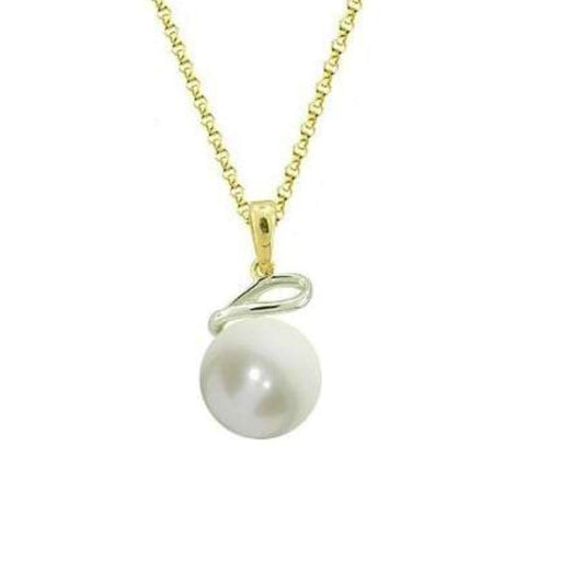Amore Neckwear Amore Gold Pearl twist pendant
