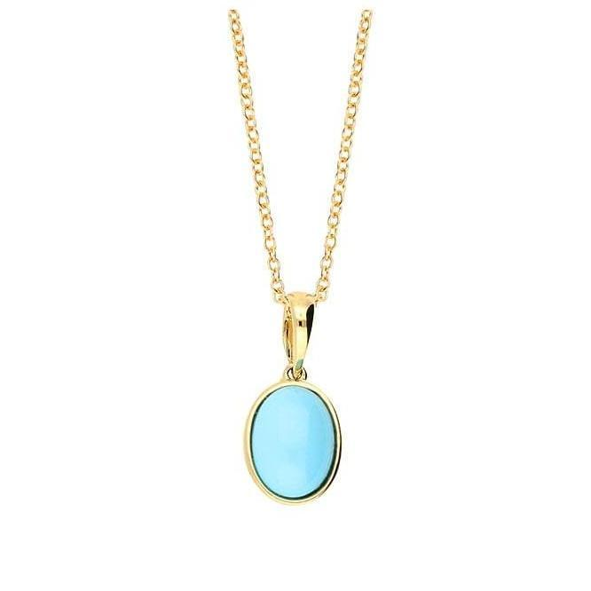 Amore Pendant Amore gold turquoise oval pendant