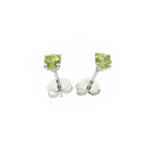 Amore Earrings Amore Silver and Peridot 4mm round studs