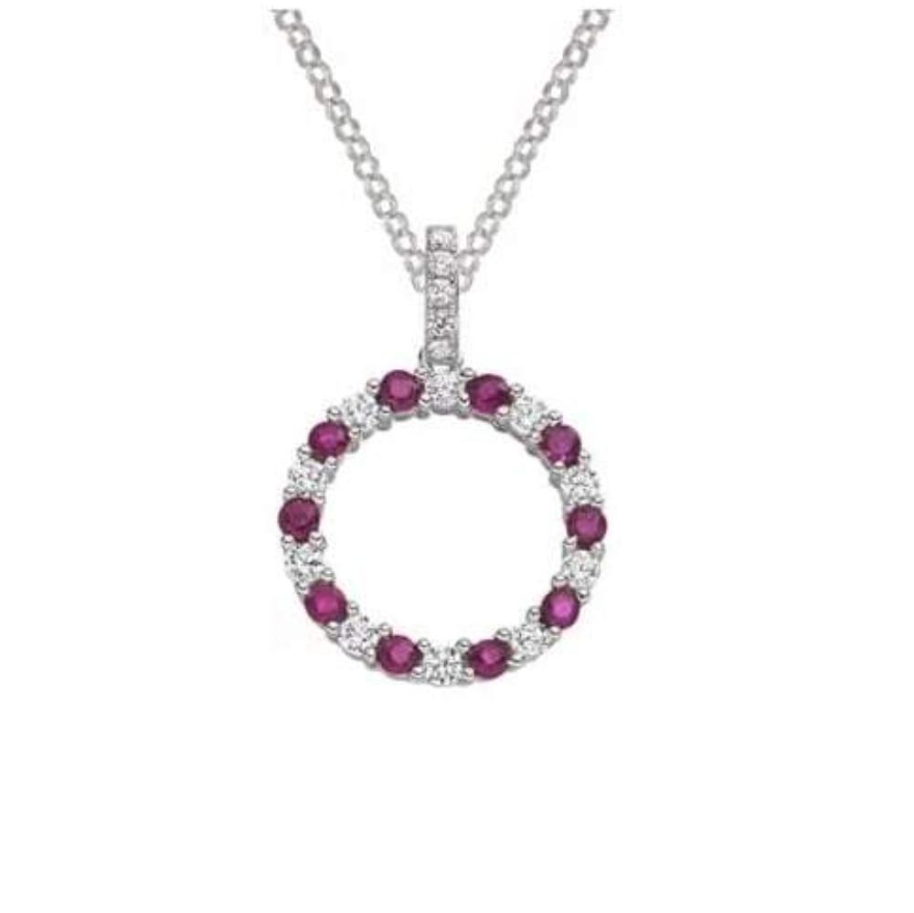 Amore Pendant Amore Silver and ruby circle of life pendant