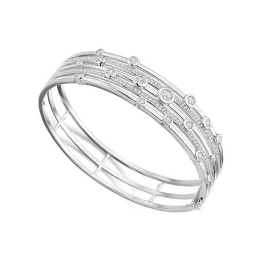 Amore Bangle Amore Silver bangle set with scattered cubic zirconia