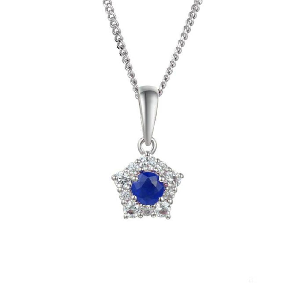Amore Pendant Amore Silver classico cluster pendant with Sapphires