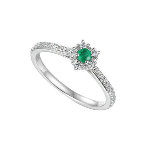 Amore Ring Amore Silver emerald classico cluster ring with cz's