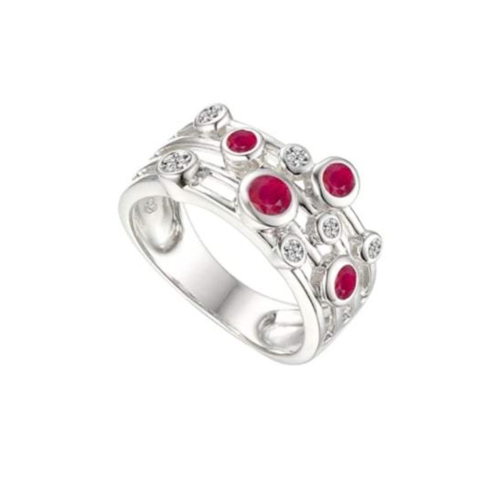 Amore Ring Amore Silver Ruby bubble ring