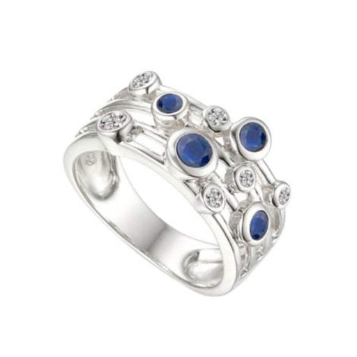 Amore Ring Amore Silver sapphire bubble ring