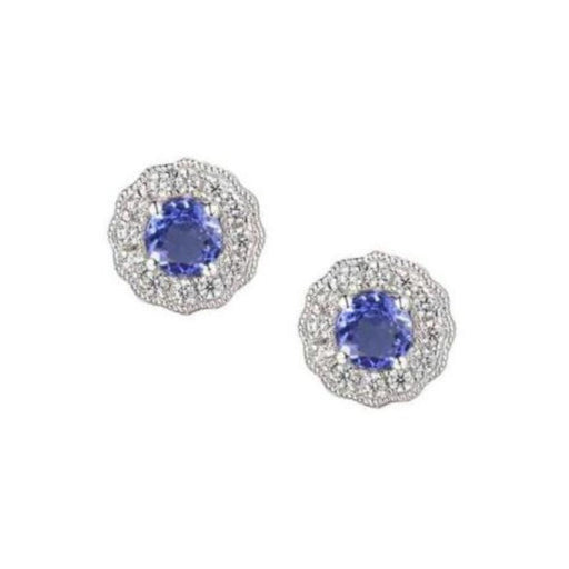 Amore Earrings Amore Silver tanzanite stud earrings