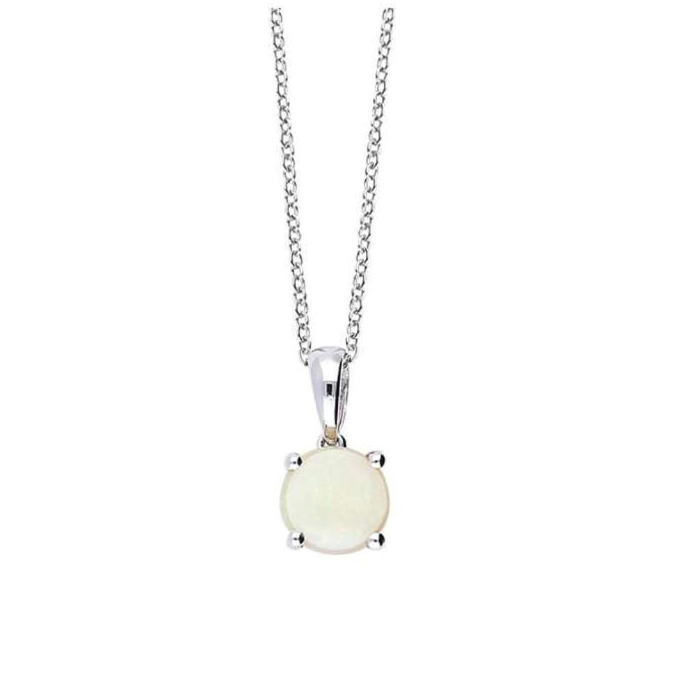 Amore Pendant Amore white gold round opal pendant