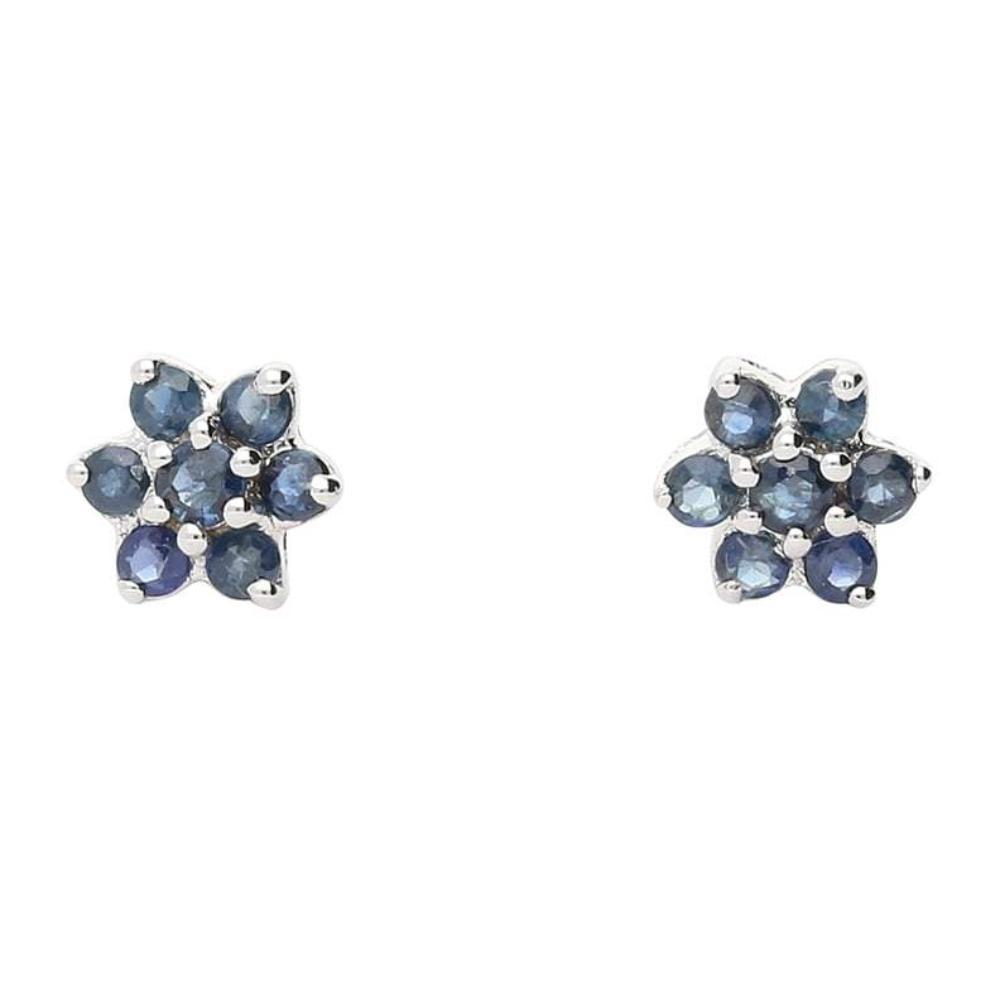 Amore Earrings Amore white gold sapphire flower stud earrings