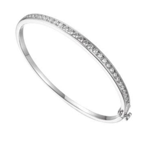 Bangle Amore Silver CZ channel set bangle