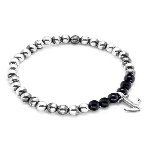 Anchor & Crew Bracelet Anchor and Crew Silver black onyx keel bracelet