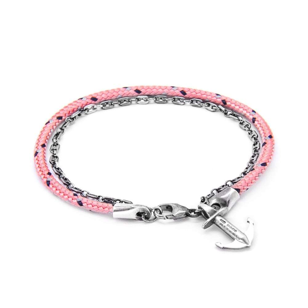 Anchor & Crew Bracelet Anchor & Crew Silver pink filey bracelet
