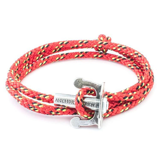 Anchor & Crew Bracelet Anchor & Crew Silver red rope union bracelet