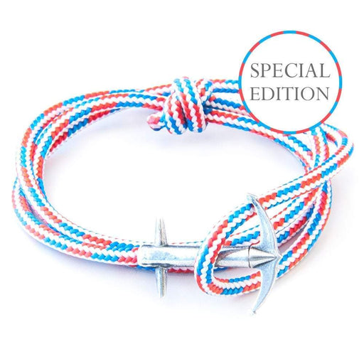 Anchor & Crew Bracelet Anchor & Crew Silver red white blue admiral bracelet