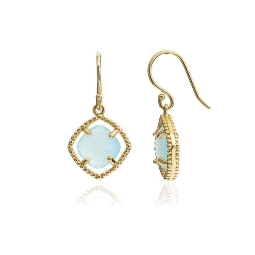 Azuni Earrings Azuni gold aqua delphi hook earrings