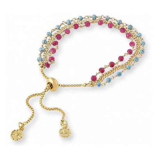 Azuni Bracelet Azuni gold turquoise and ruby quartz Melina three strand bracelet