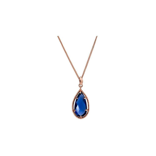 Azuni Necklace Azuni rose gold Iolite teardrop necklace