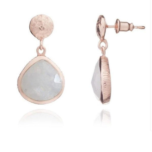 Earrings Azuni rose gold moonstone Eos drop earrings